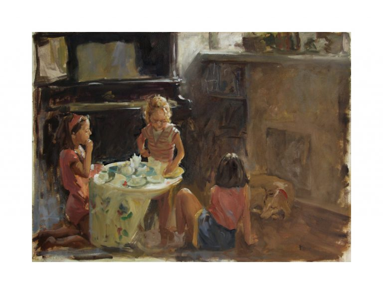 image of girls playing tea party